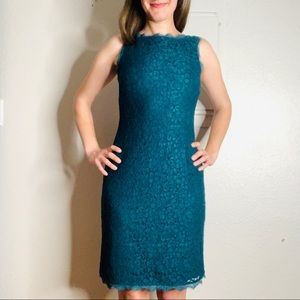 Adrianna Papell lace overlay shift dress 2